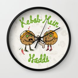 Kebab Mein Haddi Wall Clock