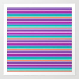 Stripes Colorul Mood Art Print