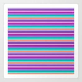Stripes Colorul Mood Art Print
