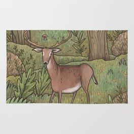 Deer in Woodland Rug