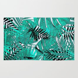 Tropical leaves background texture Rug