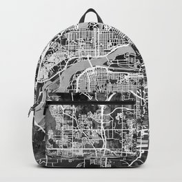 Quad Cities Street Map Backpack