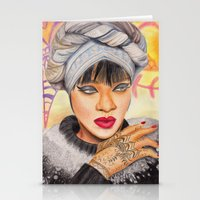 rihanna Stationery Cards featuring RIHANNA by Share_Shop
