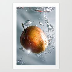 Apple drop Art Print