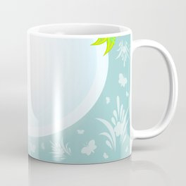 Frame with abstract flowers and background Coffee Mug