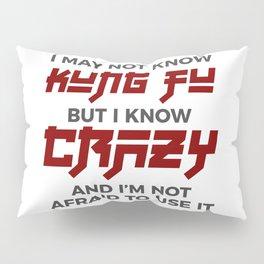 Crazy Kung Fu Funny Martial Arts Dare Pillow Sham