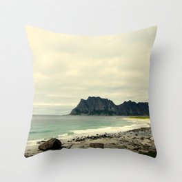 Beach Cliff Throw Pillow