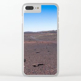 Lava mountain Clear iPhone Case