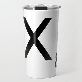 Letter X - Custom Scrabble Letter Tile Art - Scrabble X Initial Travel Mug