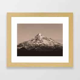 Mount Hood - Black and White - nature photography Framed Art Print