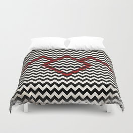 "The Twin Peaks Chevron ""OWL Edition"" Duvet Cover"