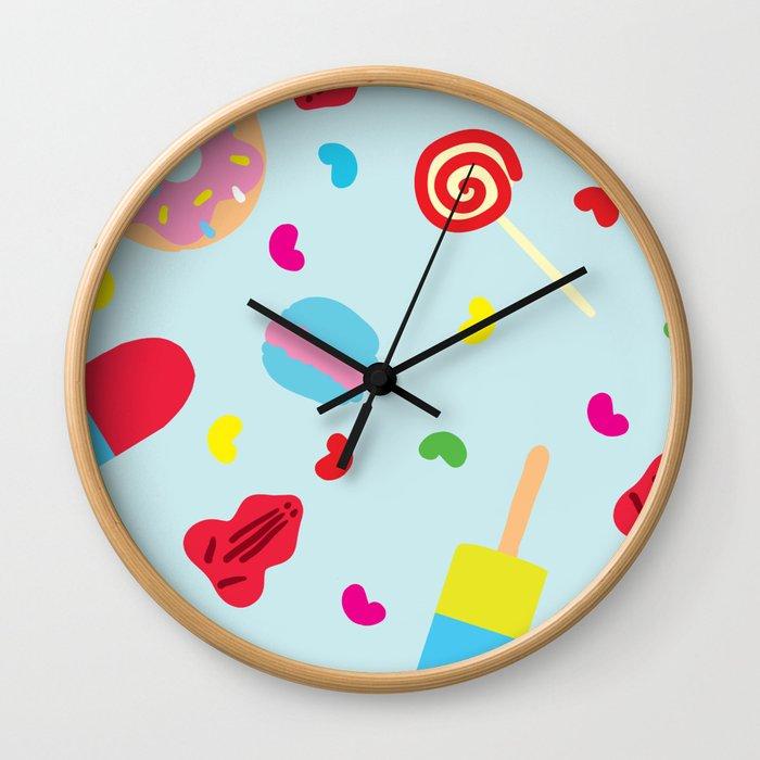 Sugar Overload Pattern Wall Clock