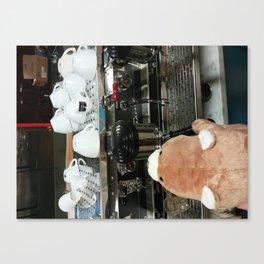 Barista Bear Canvas Print