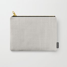 Neutral Grey White Solid Color Parable Farrow and Ball Strong White 2001 Carry-All Pouch