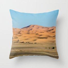 Sahara Desert dunes Throw Pillow