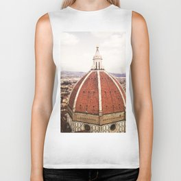 Duomo - Hazy, Florence Photography Biker Tank