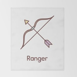Cute Dungeons and Dragons Ranger class Throw Blanket