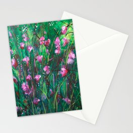 """WOODLAND SPRING"" Original Painting by Cyd Rust Stationery Cards"