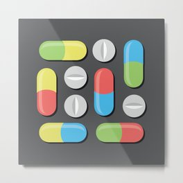 Pills and capsules Metal Print