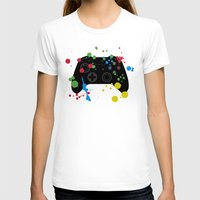 xbox T-shirts featuring Controller Graffiti XBox One by AngoldArts