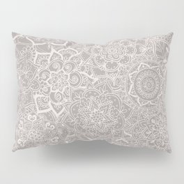 Delicate Lace Mandala Pattern (Grey/Cream) Pillow Sham