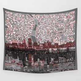 portland city skyline Wall Tapestry
