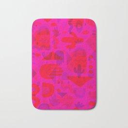Neon Cutout Print Bath Mat