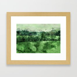 North Georgia Blue Cows Framed Art Print