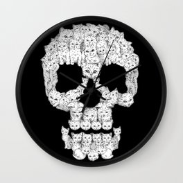 Skulls Are For Pussies Wall Clock
