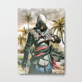 AC Black Flag pastel Metal Print