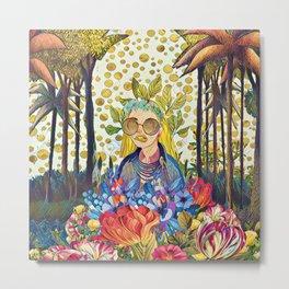 Floral forest Metal Print