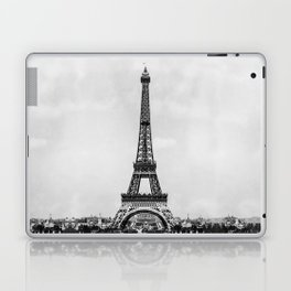 Eiffel tower, Paris France in black and white with painterly effect Laptop & iPad Skin