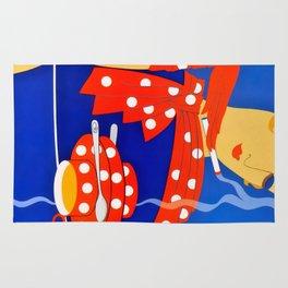 "Art Deco Illustration ""Reflections"" by Erté Rug"