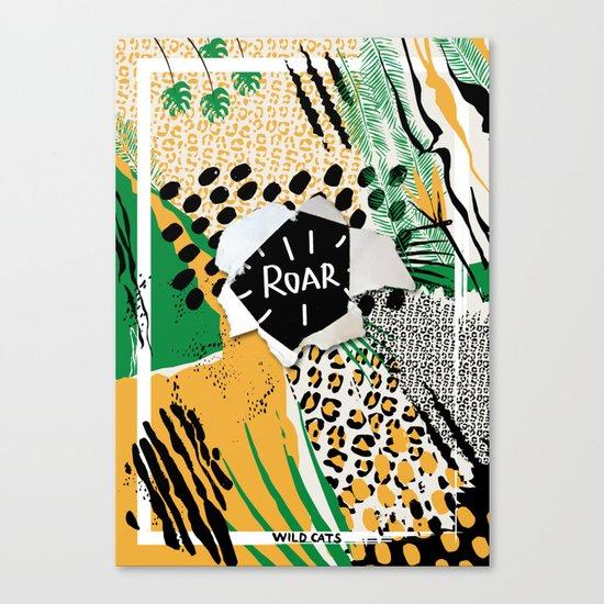 ROAR (wild cats) Canvas Print