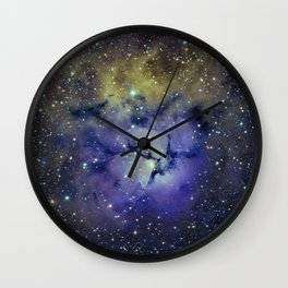 Pansy in Space Wall Clock