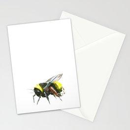 Bumblebee, minimalist bee honey making art, design black yellow Stationery Cards
