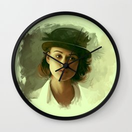 Keira Knightley in hat Wall Clock