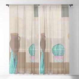 Southwest Desert Wall Sheer Curtain