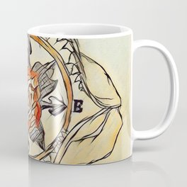 Shark Jaw Rose Compass Coffee Mug