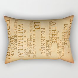 Viking Prayer Rectangular Pillow