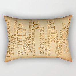 Viking Prayer Rectangular Pillow