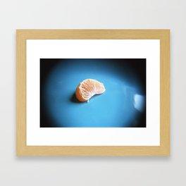 Orange On Blue Framed Art Print