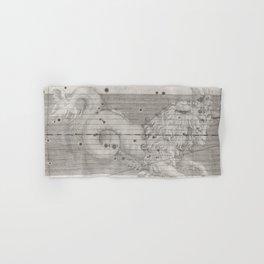 Vintage Capricorn Astrology Constellation Map (1655) Hand & Bath Towel