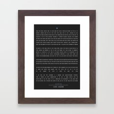 Carl Sagan - Pale Blue Dot Poster Framed Art Print