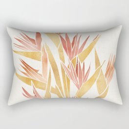 Deco Flowers ~ Metallic Birds of Paradise Rectangular Pillow