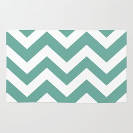 Green Sheen - grey color - Zigzag Chevron Pattern Rug