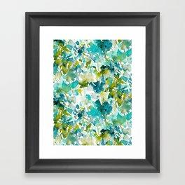 Local Color (Teal) Framed Art Print