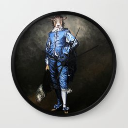 Blue Goat Wall Clock