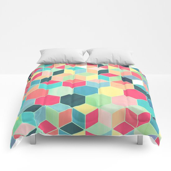 Yummy Summer Colour Honeycomb Pattern Comforters