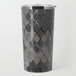 Mermaid Scales Silver Gray Glam #1 #shiny #decor #art #society6 Travel Mug
